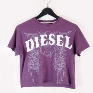 DIESEL VTG Cropped Graphic Tee